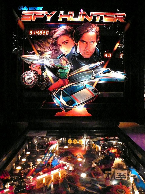 Bally Spy Hunter Pinball Machine For Sale