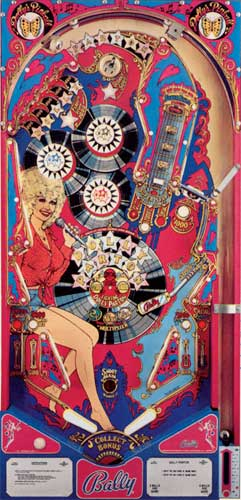 Dolly Parton Pinball Machine For Sale Bally 1978