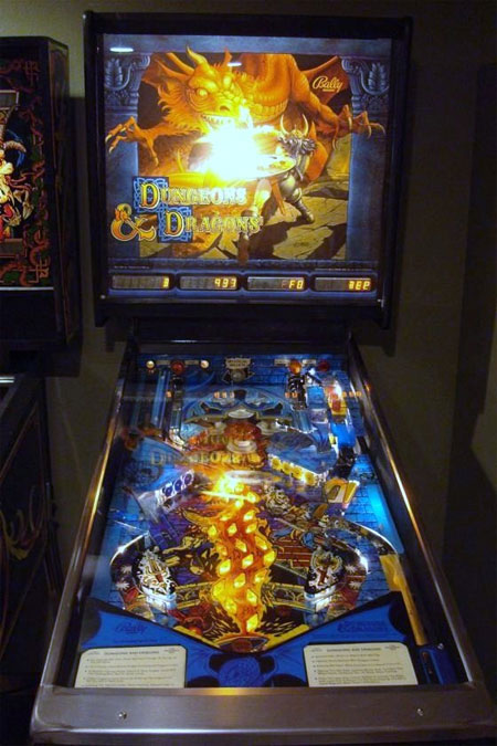 Dungeons and Dragons Pinball Machine For Sale Parts Accessories